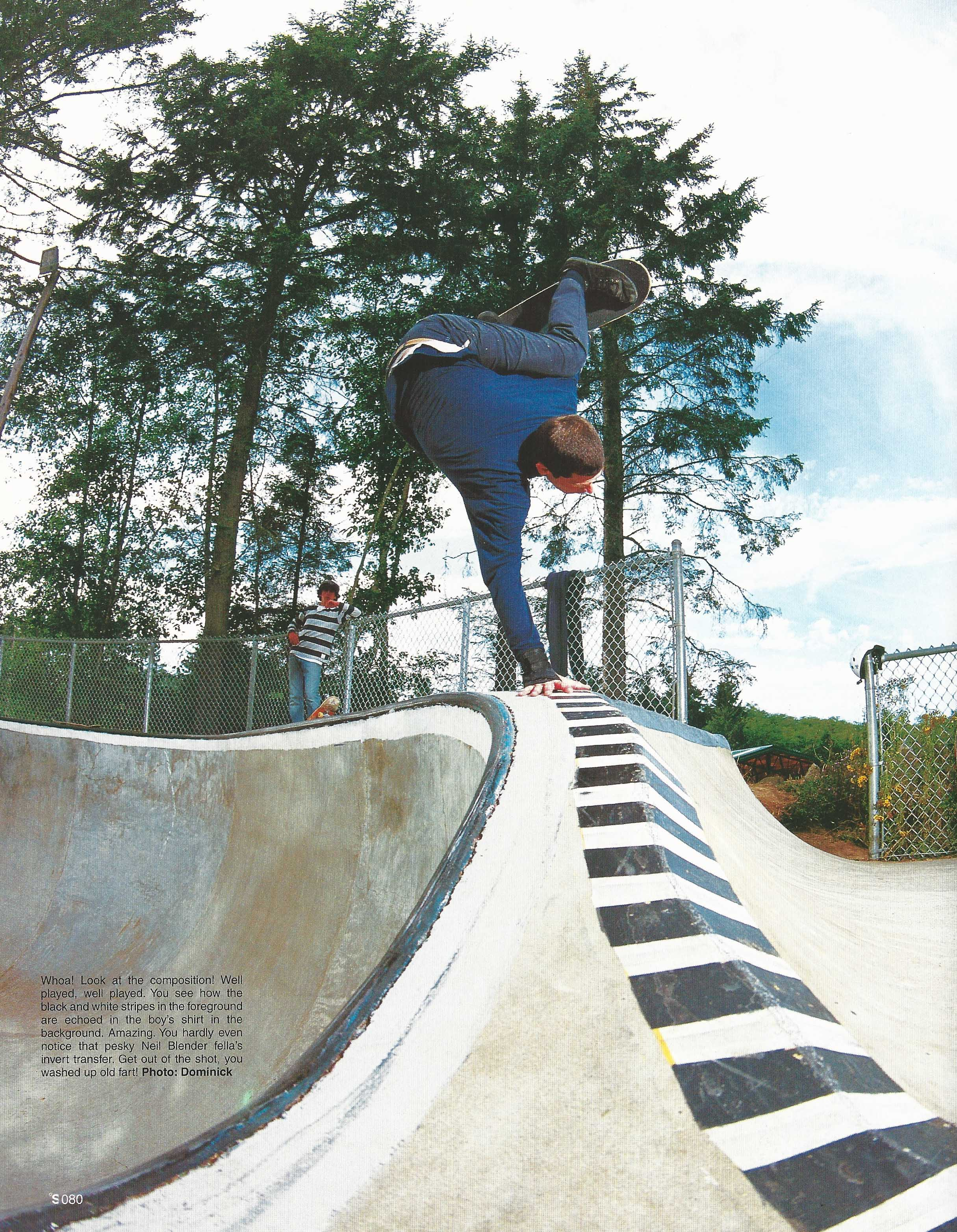 Neil Blender, Lincoln City, OR. The Skateboard Mag. Photo: Dominick