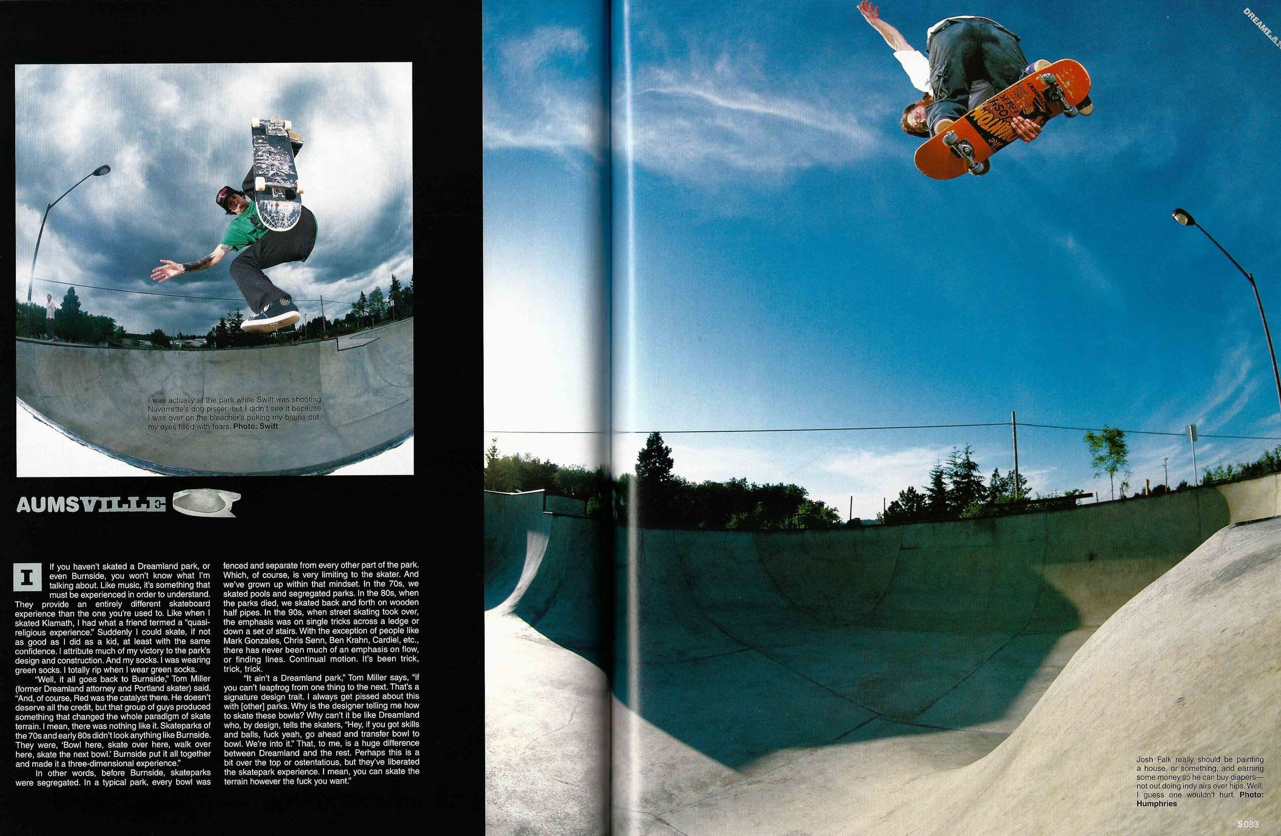 Darren Navarrette and Josh Falk, Aumsville, OR. The Skateboard Mag. Photo: Swift (left) Humphries (right)