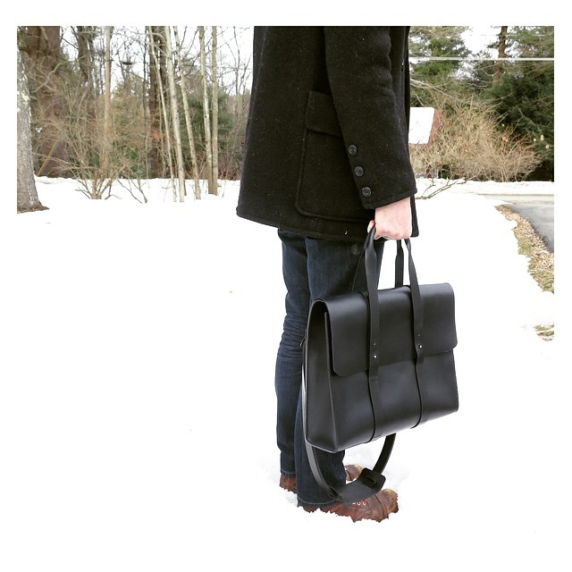 The Orosco Briefcase. Available by special order from mandycoon.com.   #handmade  #withlove  #upstate