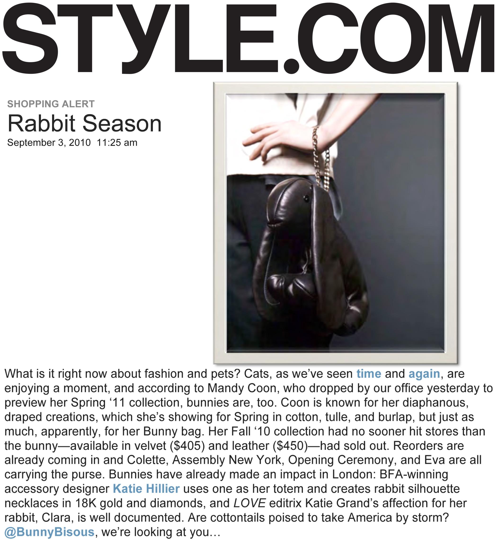 STYLE.COM RABBIT SEASON