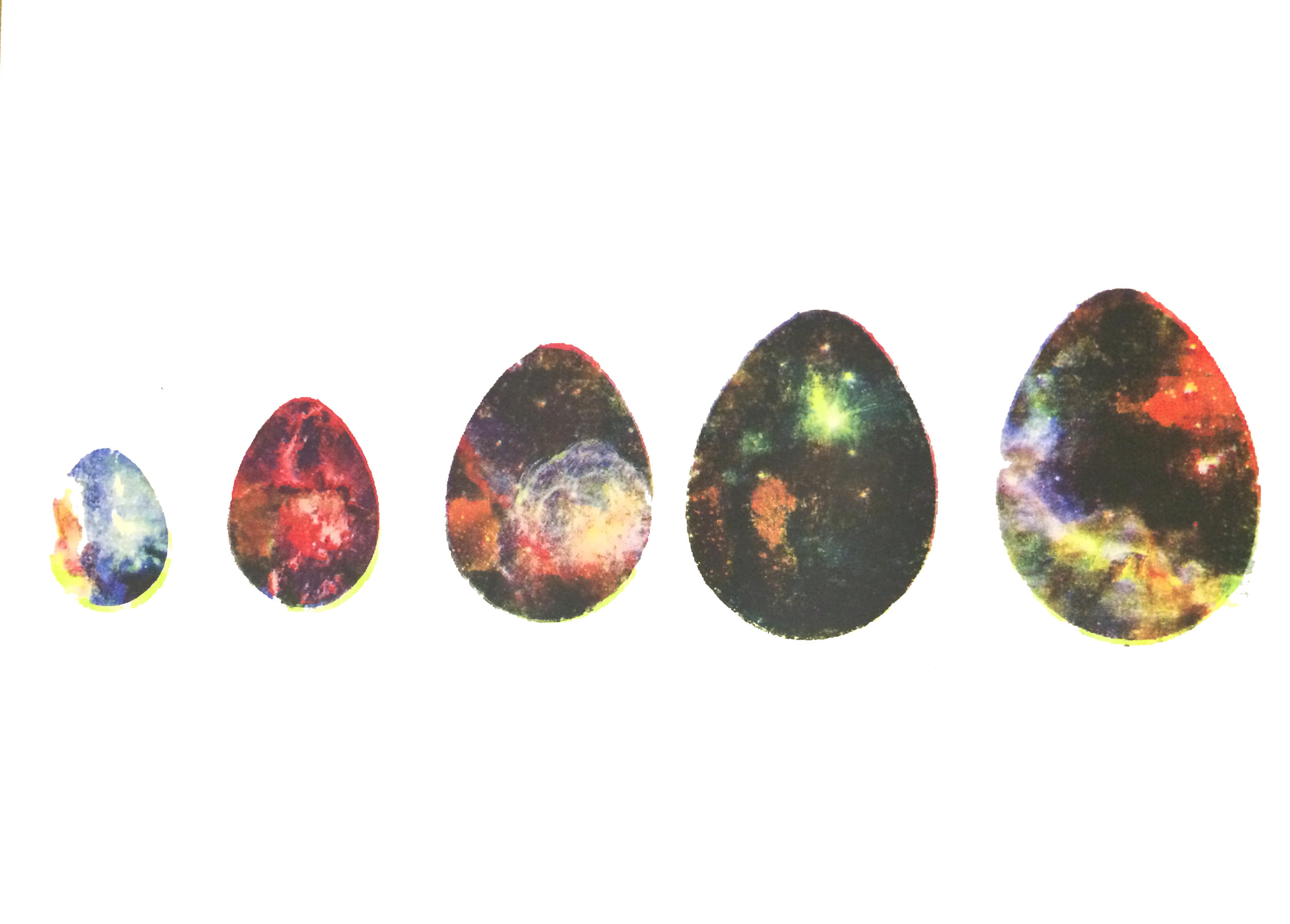 Here's the finished print for the growing eggs composition