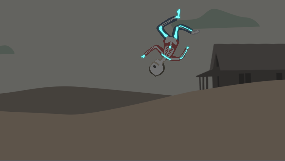 One of the most fun projects was designing sample storyboards for a web series that I can't tell you anything about, but I can show you this frame of a little guy flying through the air, about to break several bones in the 1940s dustbowl.