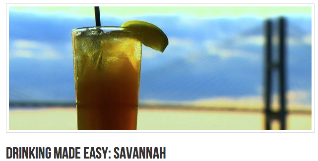 Read the article here:  http://drinkingmadeeasy.com/show/episode-guide/drinking-easy-savannah/