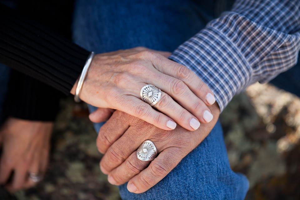 They bought these rings to celebrate their 10th wedding anniversary!