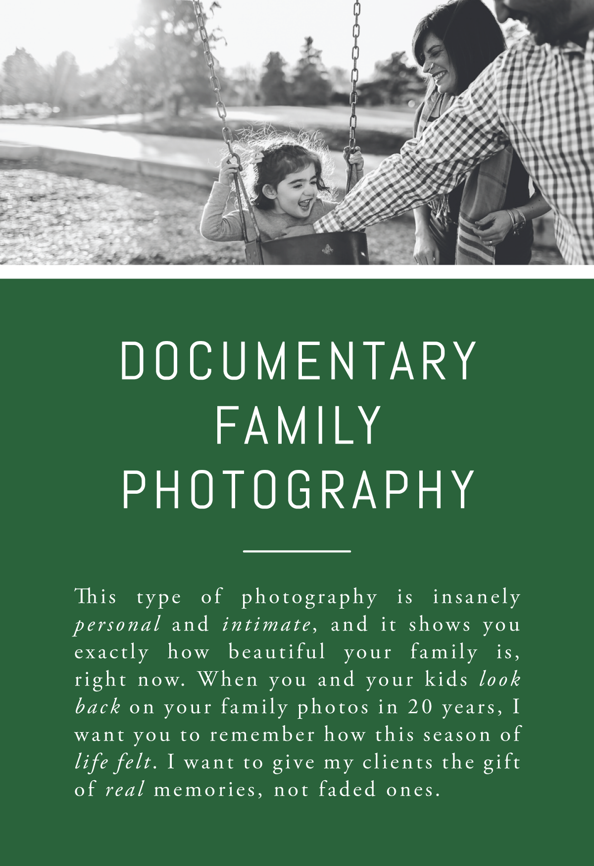 Rachel Greiman Green Chair Stories Booking  Family Documentary Photography