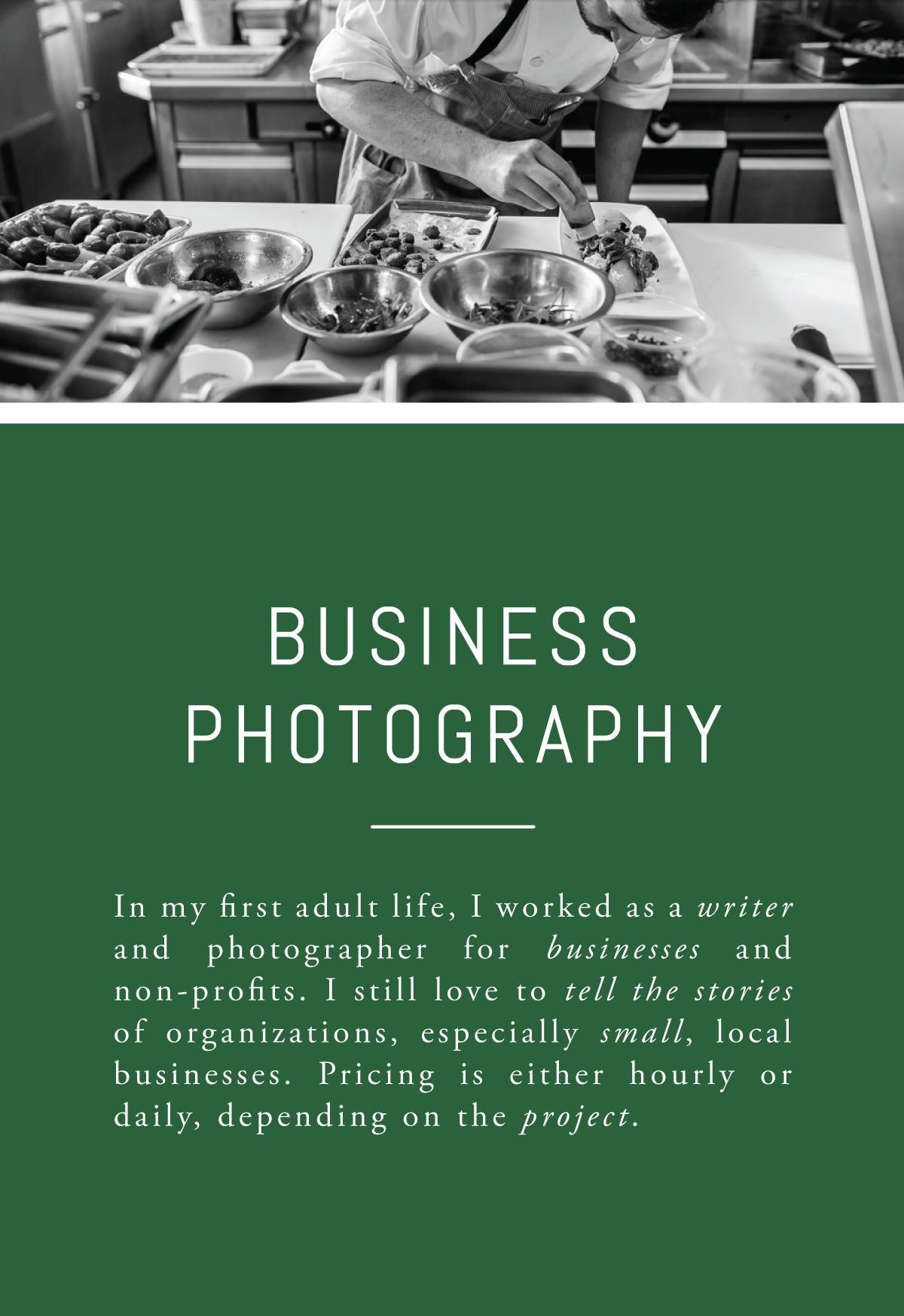 Rachel Greiman Green Chair Stories Booking Business Photos Branding