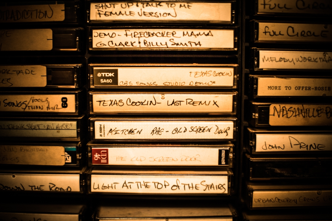 Guy Clark's Tape Collection