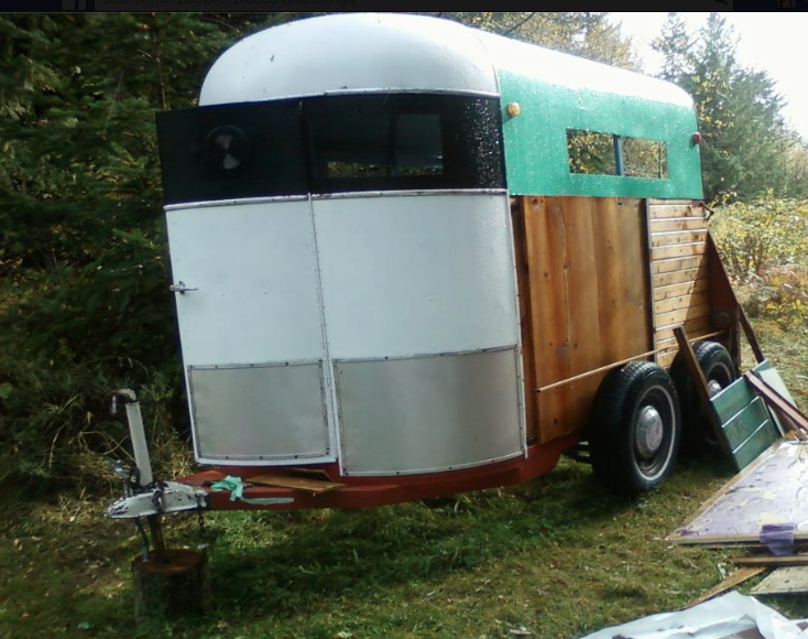 Isn't she beautiful? One day she will be set up to tour across the country as a mobile stage/kitchen. . . stay tuned!