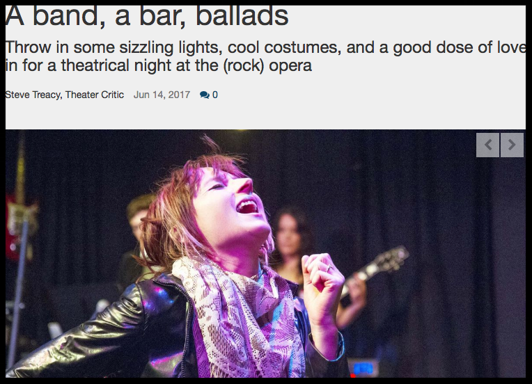 "Aba Kiser (Abakis) playing ""Sara"" in the new Rock Opera ""Murder Ballad""  - Port Townsend Leader"