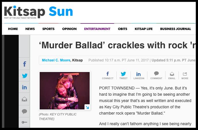 Aba Kiser (Abakis) as Sara in Murder Ballad - Kitsap Sun 2017