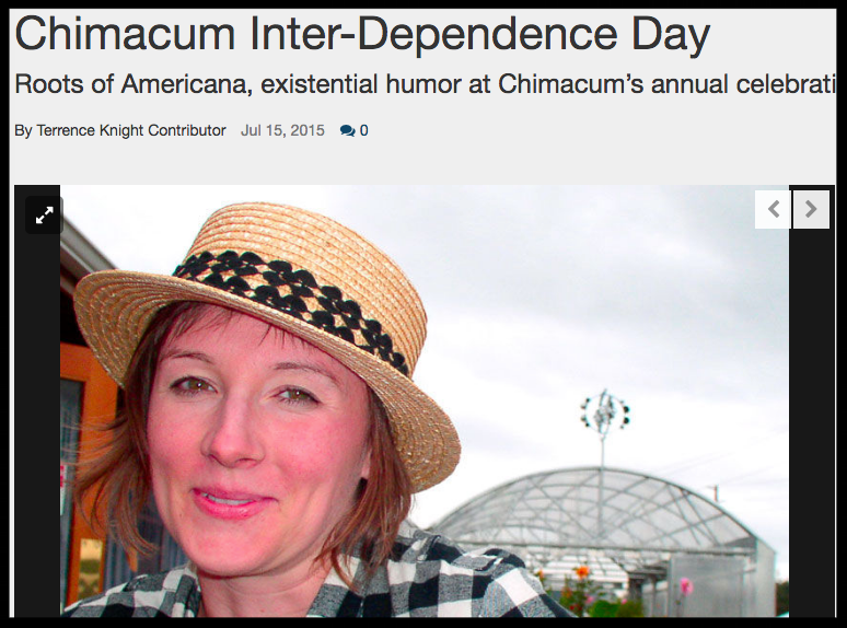 Roots of Americana, existential humor at Chimacum's annual celebration. Port Townsend Leader 2015