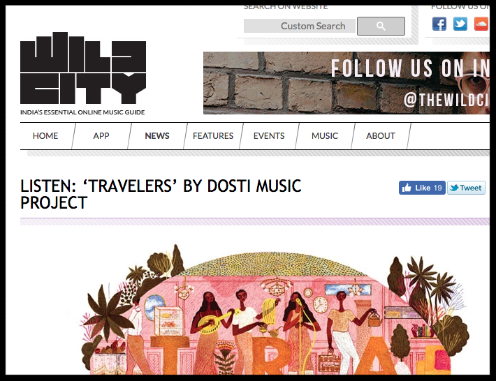 Abakis participates in Dosti - International Music Residency - Wild City Online Music Guide
