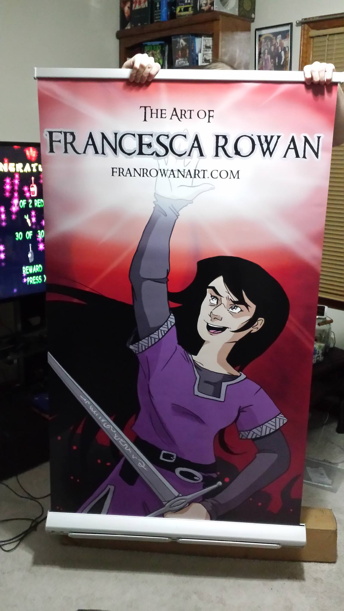 I even have a 7ft tall banner for my table! Another first for me :)