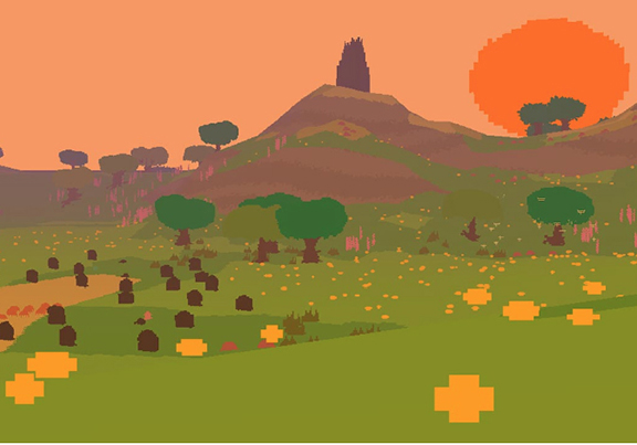 Ed Key with David Kanaga, composer, Still from Proteus, 2013, video game, artwork and image courtesy of the artist