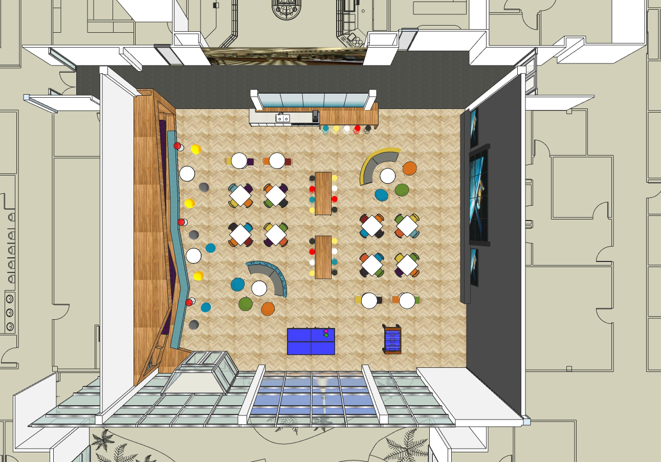 Floor plan for the Lounge.