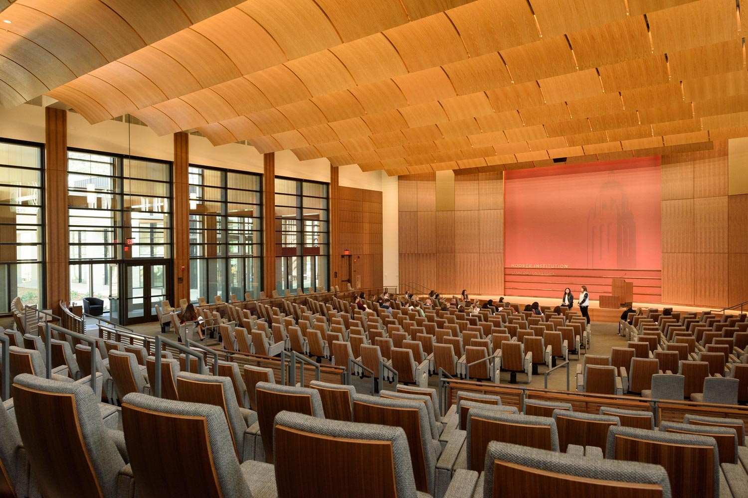 Hoover Institute Auditorium & Custom Designed Chairs.