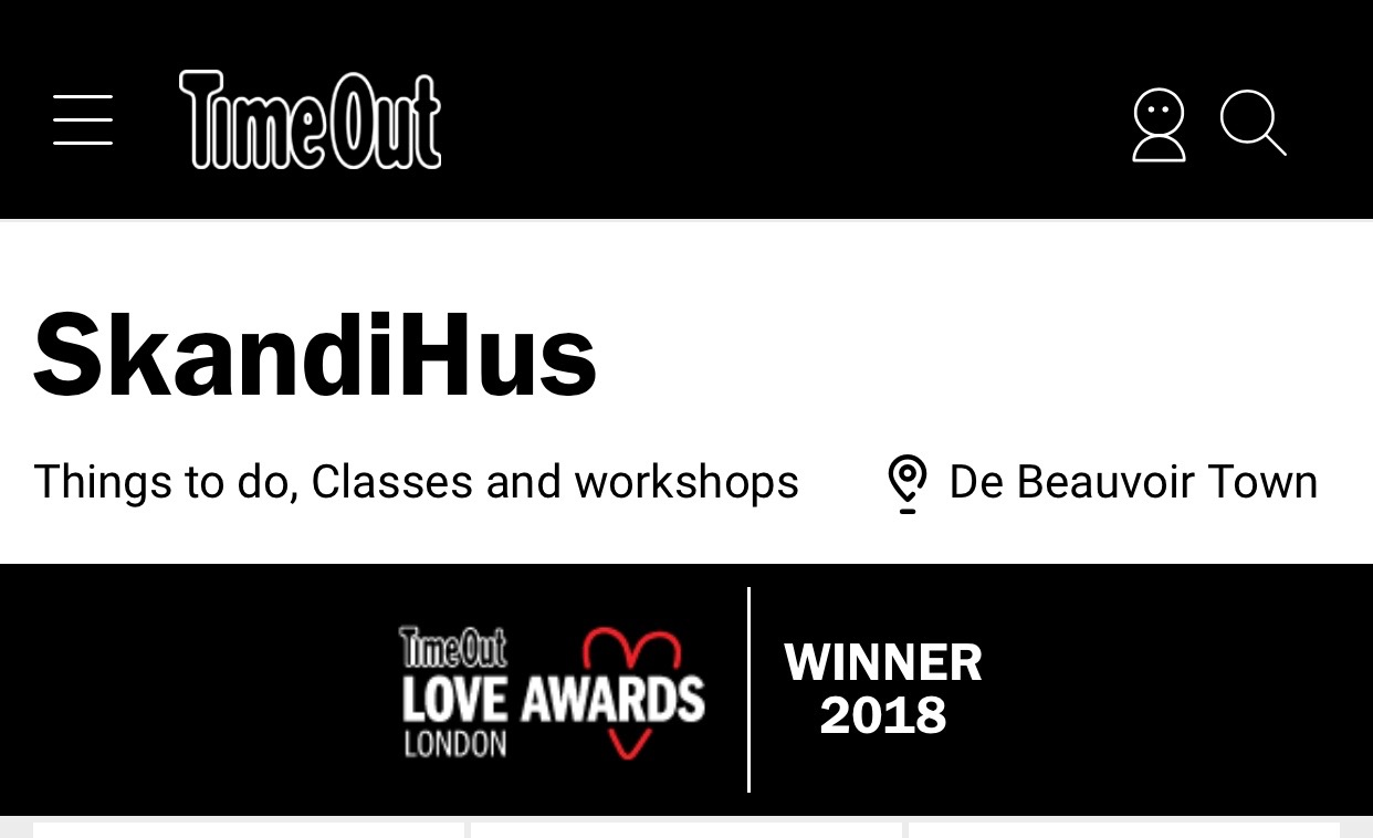 Time out London - LOVE AWARDS - 2018 Winner