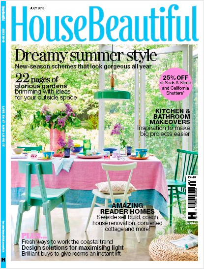 House Beautiful - Front page feature - July 2018