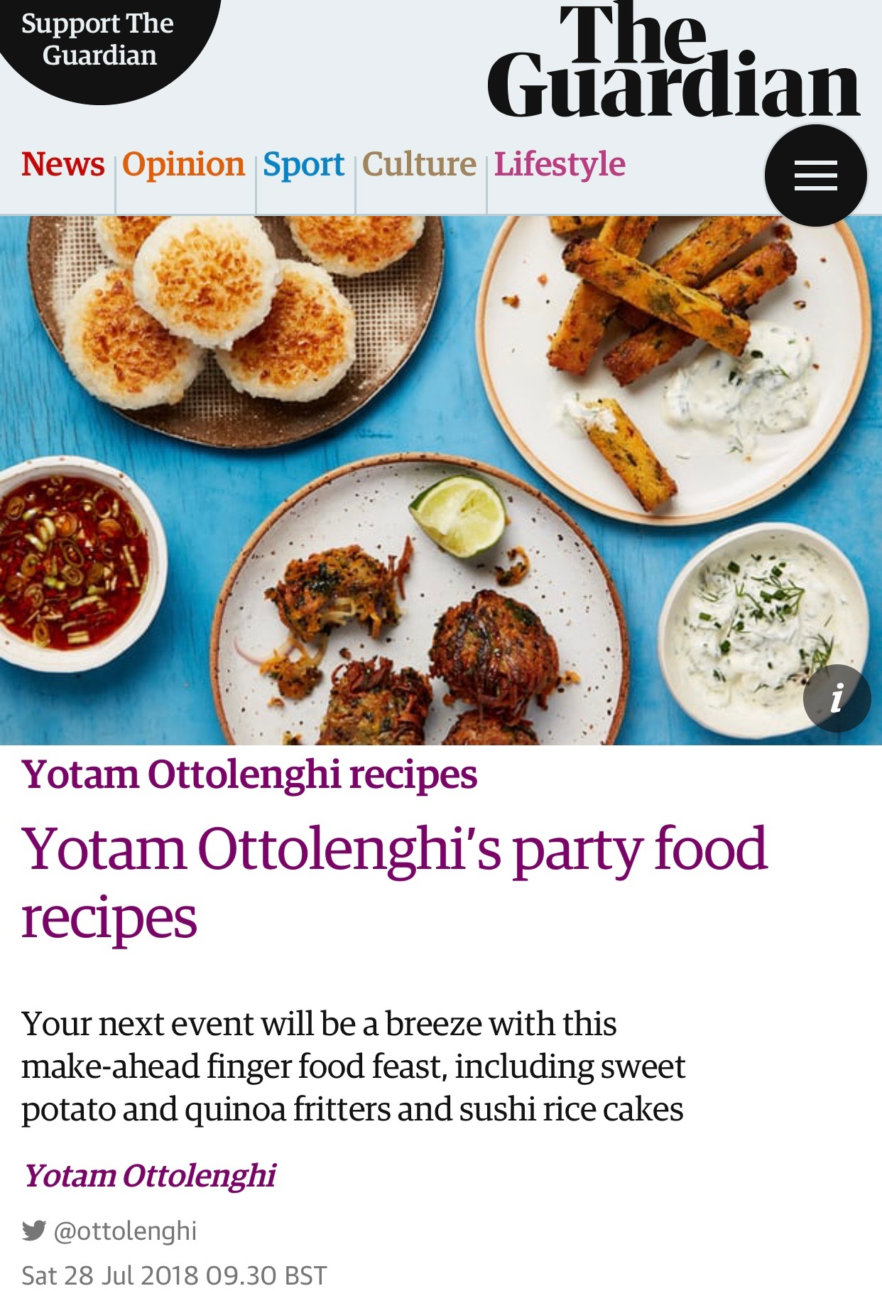 The Guardian - SkandiHus wares used by Yotam Ottolenghi - July 2018