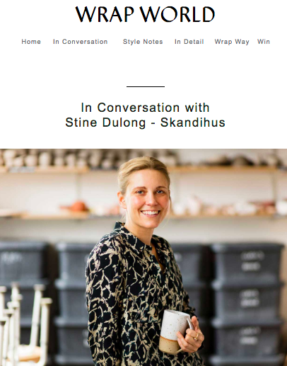 Wrap London - Interview with SkandiHus founder, Stine Dulong - March 2019