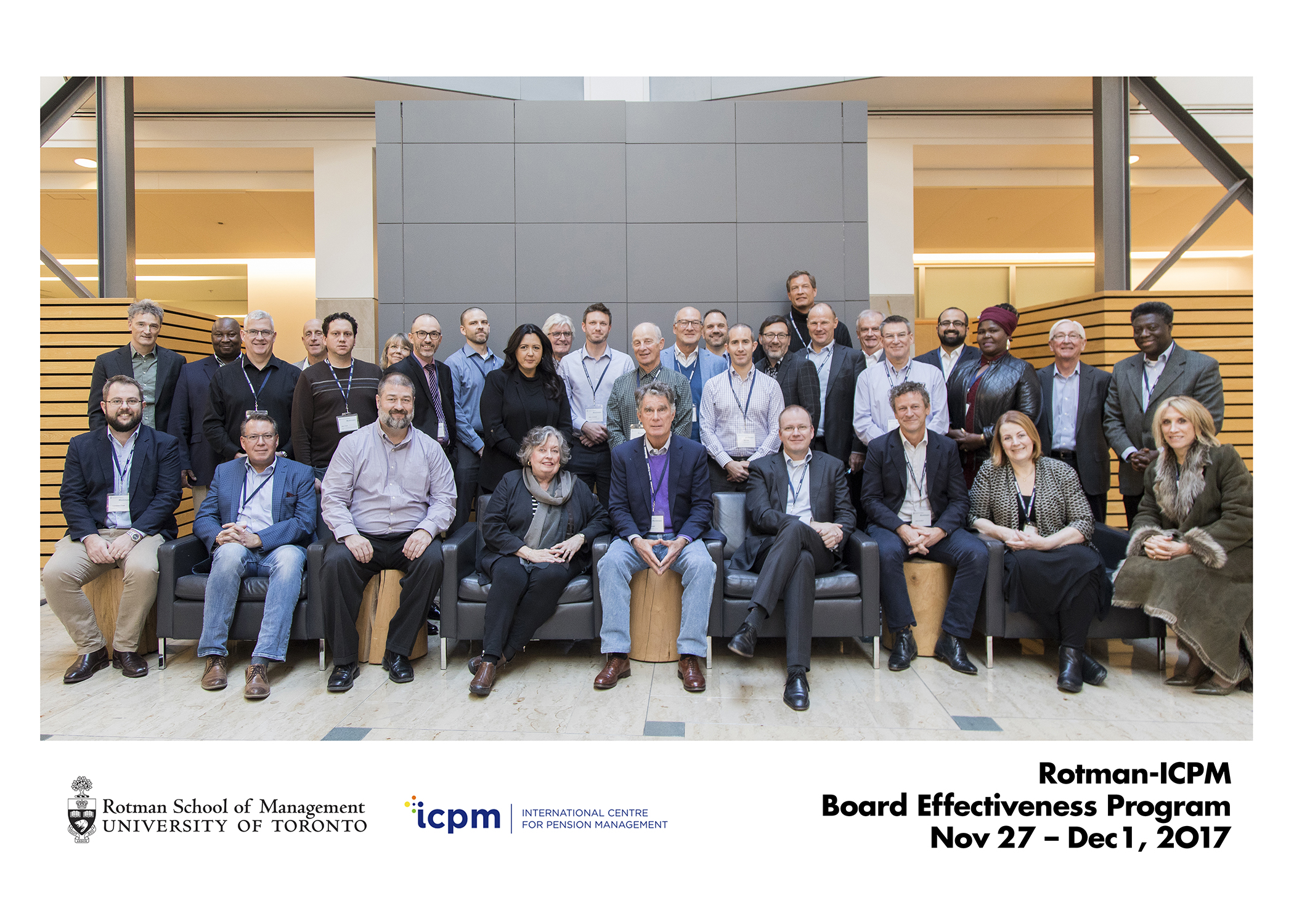 Rotman ICPM-November 2017 Board Effectiveness Program for Pension and Other Long-Horizon Investment Institutions.