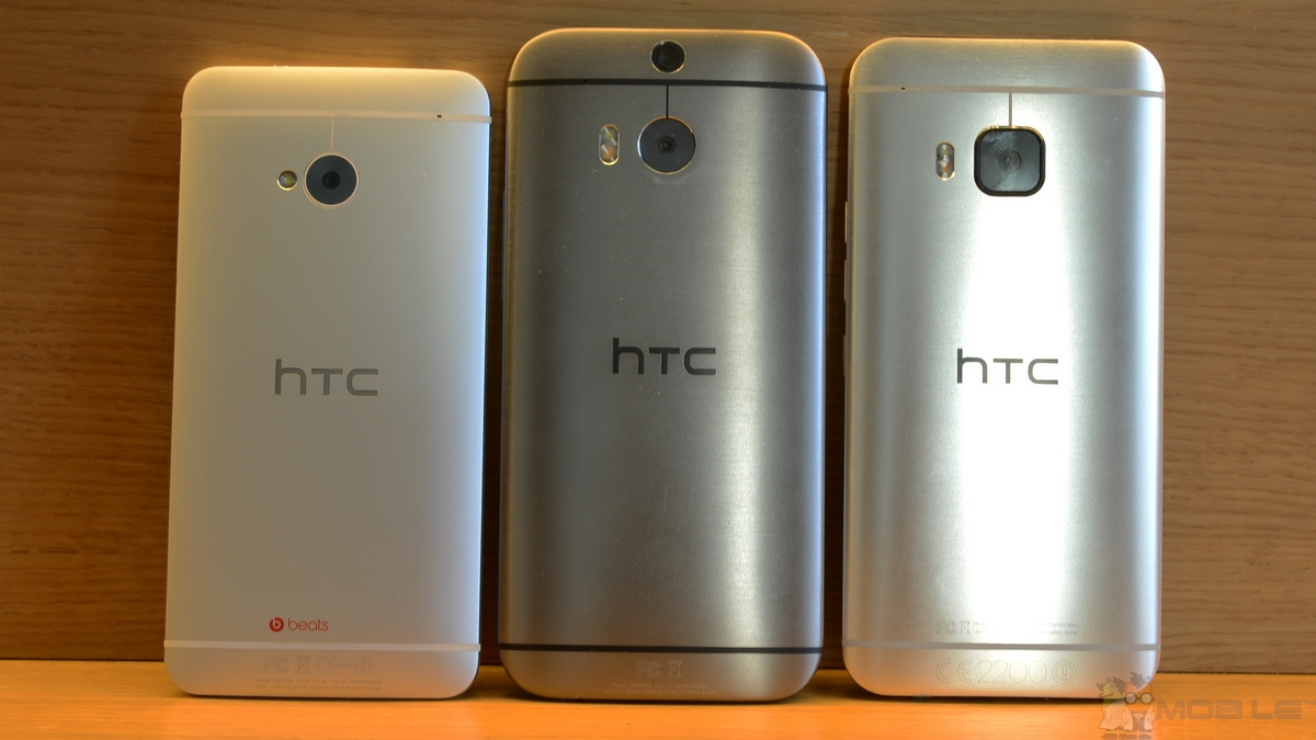 (Source:  MobileGeeks ) Left M7, Middle M8, Right M9