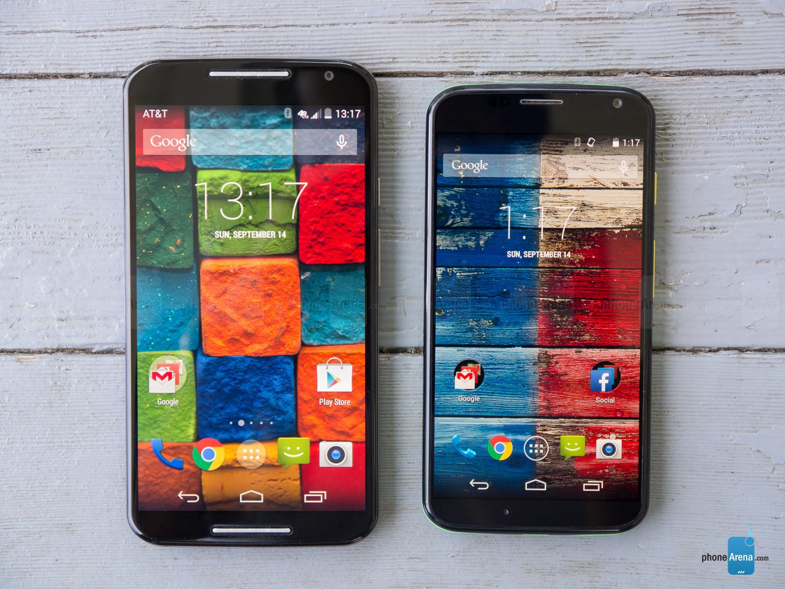 Left: 2014 Moto X, Right: 2013 Moto X  (Source:  Phone Arena )