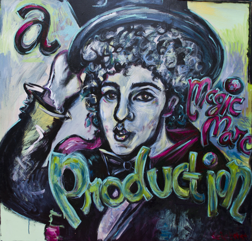 a Magic Marc Production / July 31st, 2013 / 49 x 49 Acrylic Painting on Wood by Gretchen Seichrist