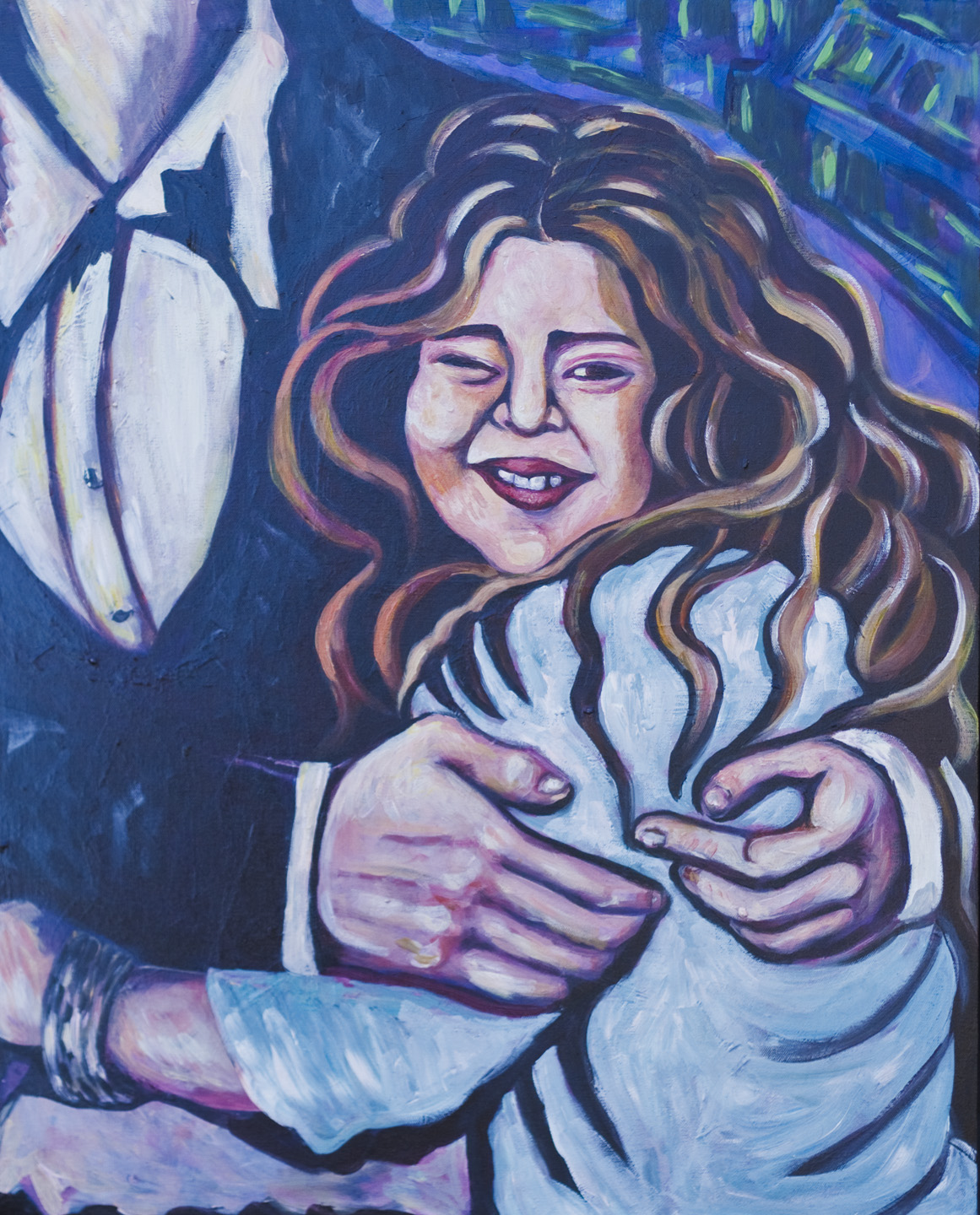 Basha Goldwater / February 21, 2011 / 24 x 30 Acrylic Painting on Canvas by Gretchen Seichrist