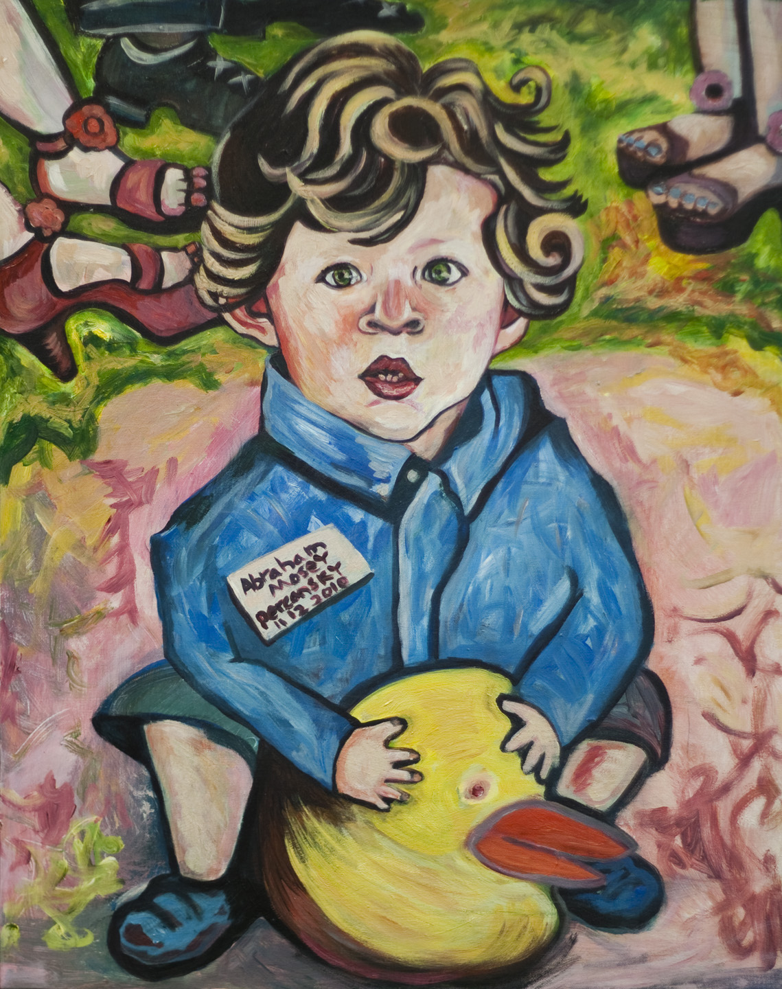 Abraham Percansky / November 12, 2010 / 24 x 30 Acrylic Painting on Canvas by Gretchen Seichrist