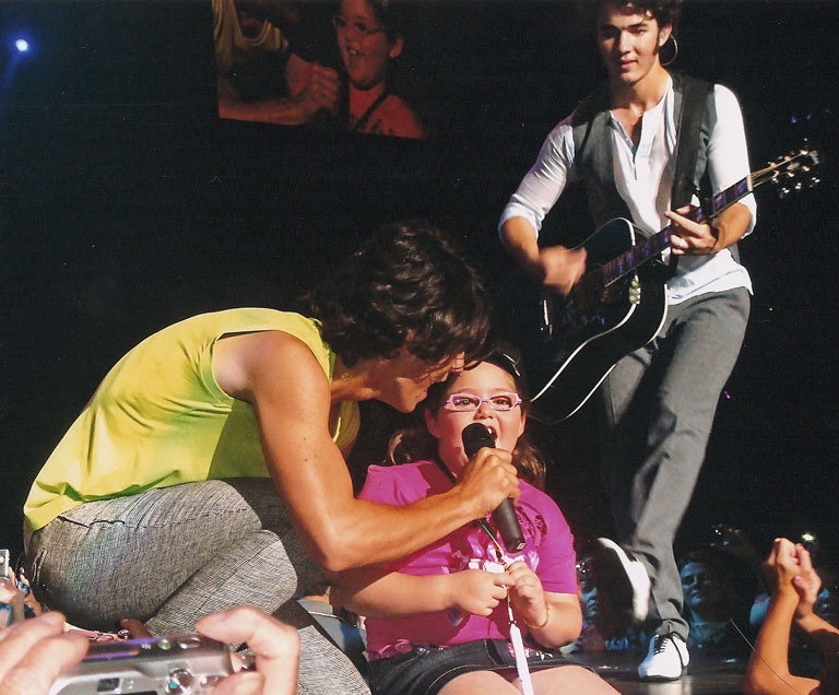 The Jonas Brothers with Special Guest Basha Goldwater  Madison Square Garden / New York, New York / August 9, 2008  Photo by Randy Goldwater