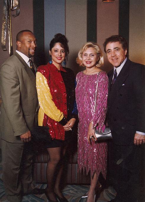 Kirby Puckett, Tonya Puckett, Sally Gittelson and Gene Gittelson  Hyatt-Regency / Minneapolis, Minnesota / December 31, 1991
