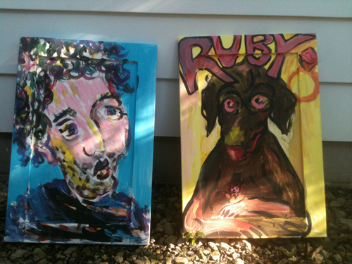 Marc And Ruby / June 28th, 2012 / Paintings and Photo by Gretchen Seichrist