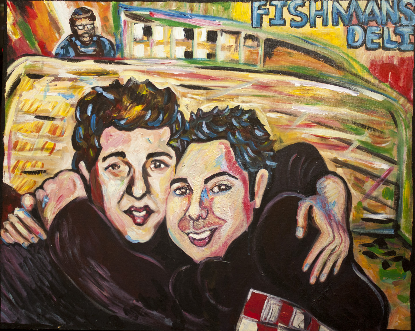 Magic Marc and Richard Gittelson / March 29, 2011 / 24 x 30  Acrylic Painting on Canvas by Gretchen Seichrist