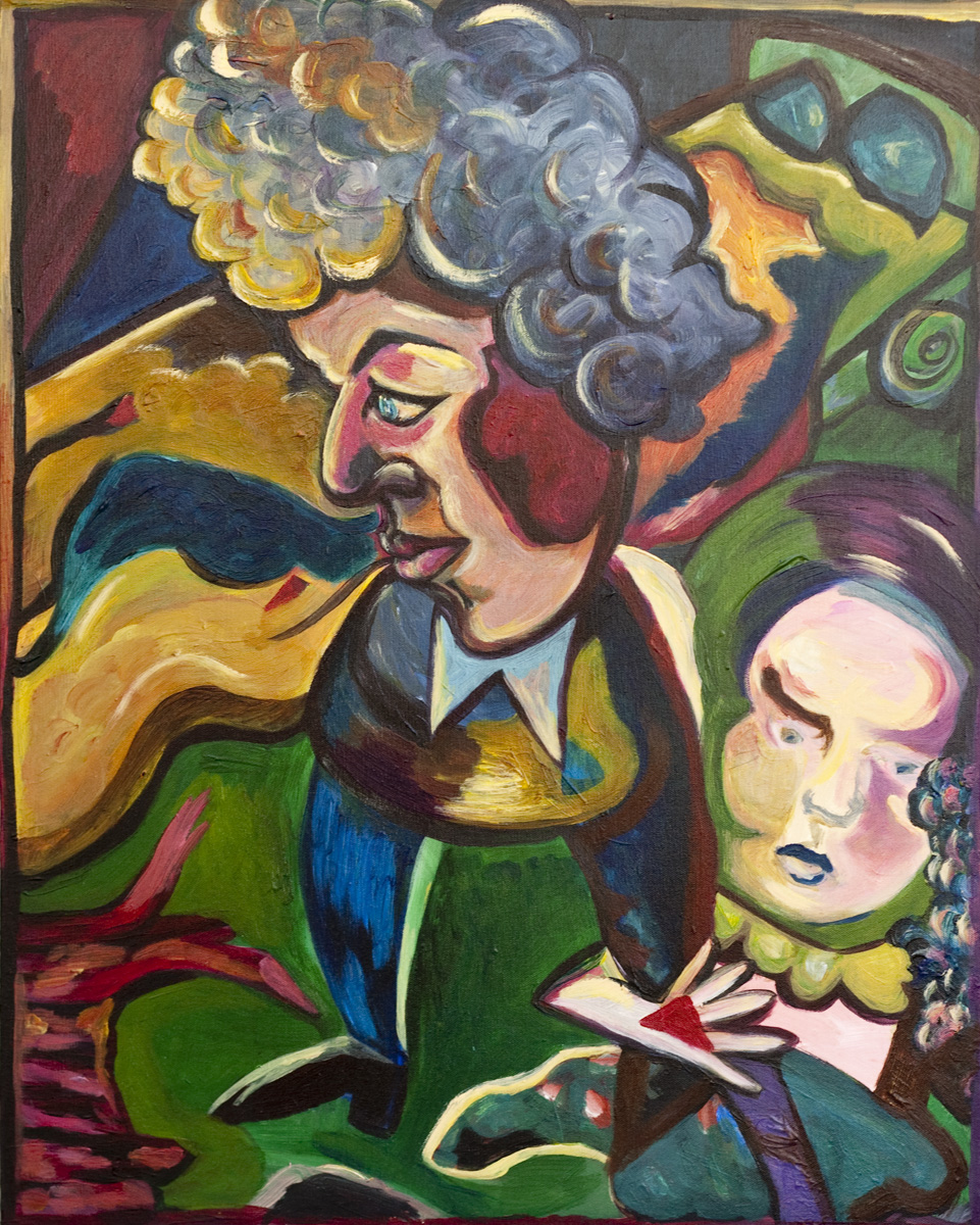 Bob Dylan / October 10, 2010 / 24 x 30 Acrylic Painting on Canvas by Gretchen Seichrist