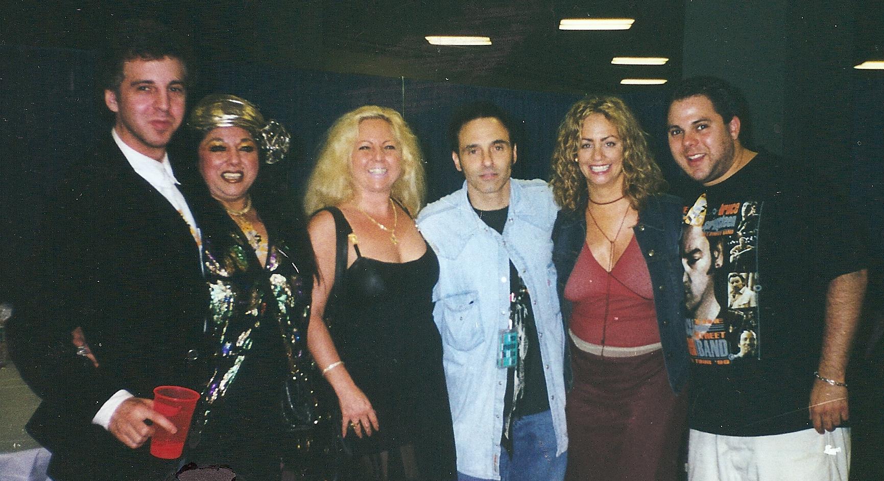 Magic Marc, Marilyn Percansky, Lisa Percansky, Nils Lofgren, Amy Lofgren, Richard Gittelson Backstage at Madison Square Garden / New York, New York / June 17, 2000