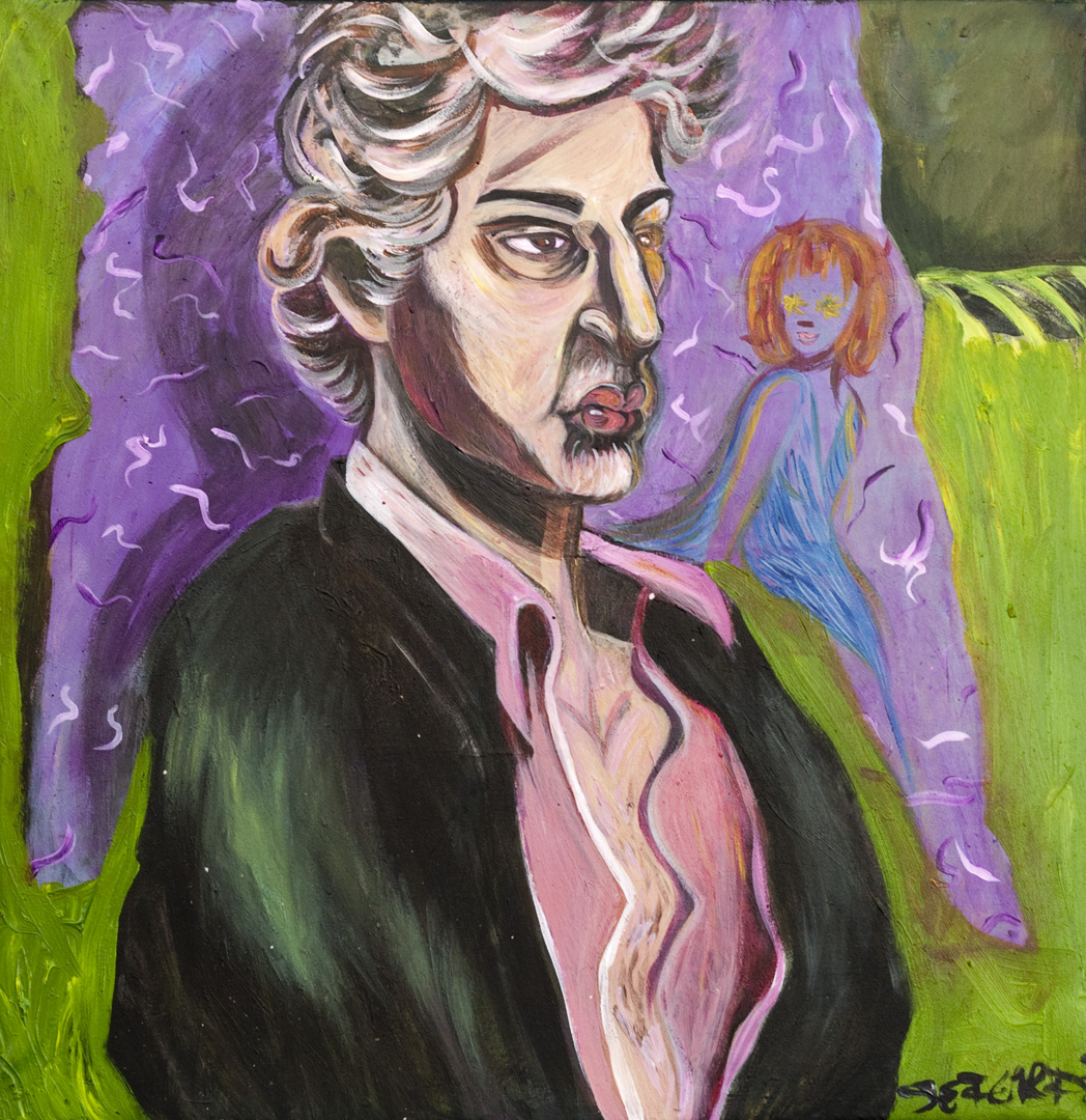 Marc Percansky / October 22, 2009 / 25 x 25 Acrylic Painting on Canvas by Gretchen Seichrist