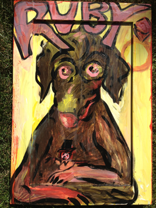 Ruby / June 28th, 2012 / 17 x 24 Acrylic Painting on Wood by Gretchen Seichrist