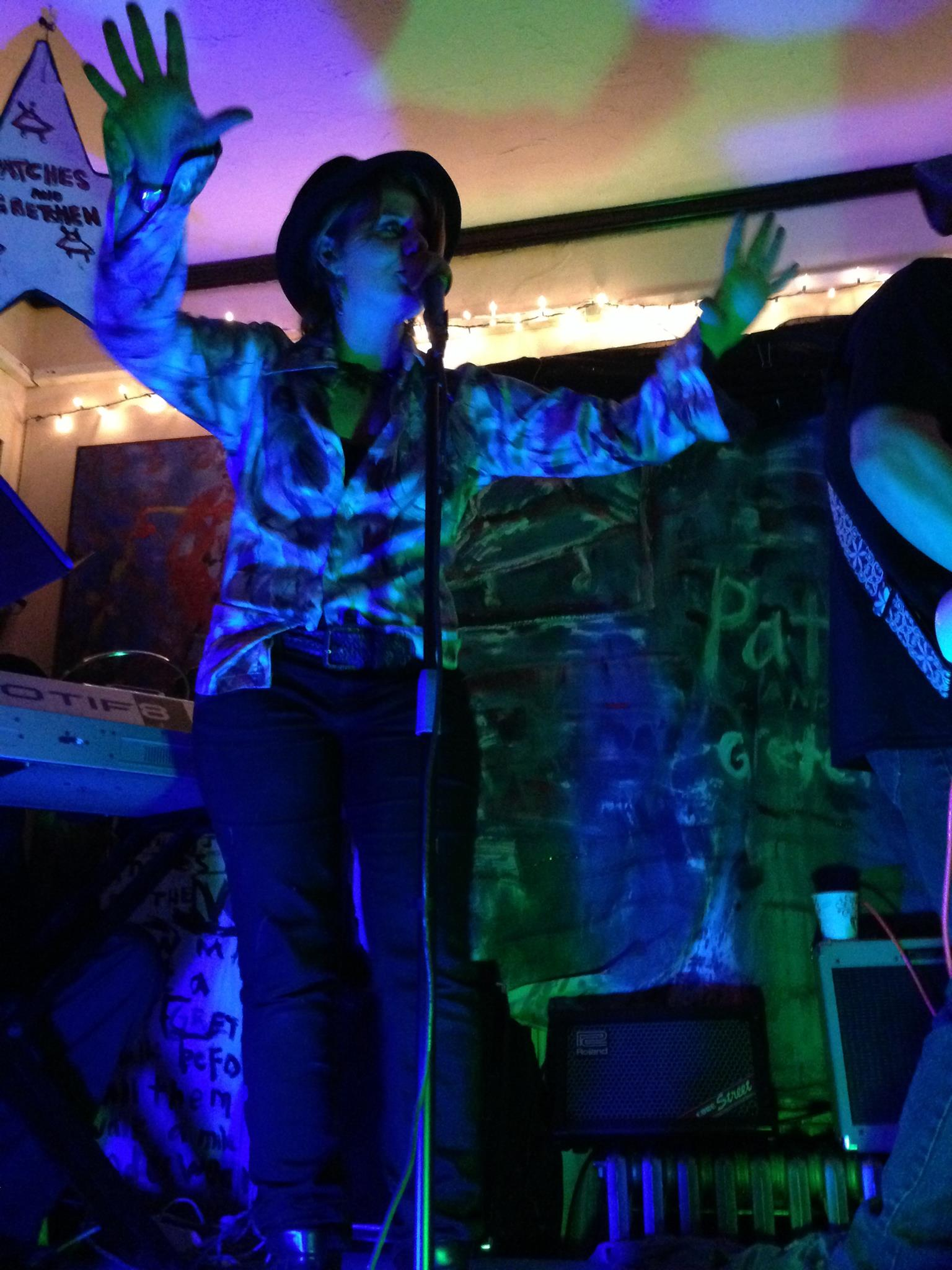 Gretchen Seichrist at Patches and Gretchen's CD RELEASE & CHICKEN COSTUME PARTY @ EVEN BREAK GALLERY / Minneapolis, Minnesota / October 26th, 2013 / Photo by Melissa Martin