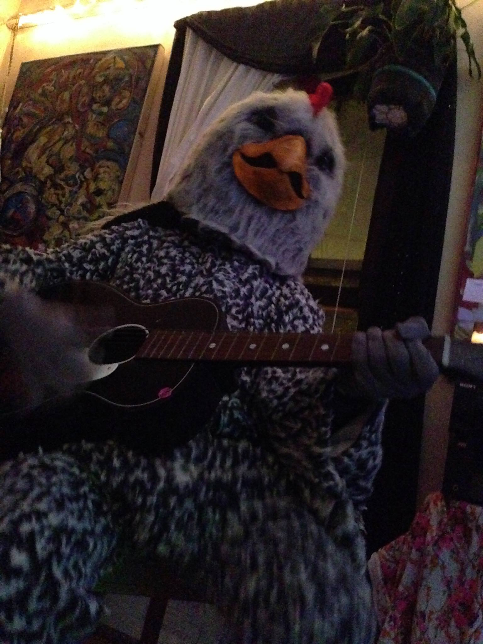 The Grey Chicken at Patches and Gretchen's CD RELEASE & CHICKEN COSTUME PARTY @ EVEN BREAK GALLERY / Minneapolis, Minnesota / OCTOBER 26, 2013 / Photo by Melissa Martin