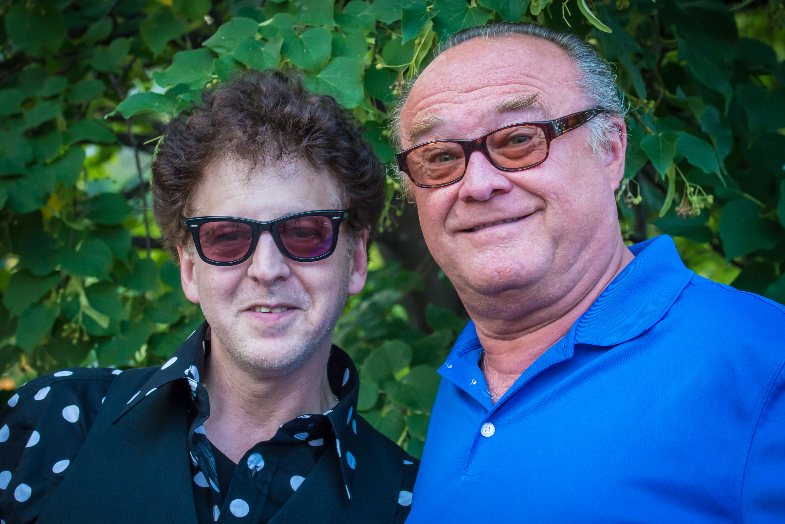 Magic Marc and John Geenen / Salute to the Music of Bob Dylan / The Veterans' Memorial Wolfe Park Amphitheater / St. Louis Park, Minnesota / August 9th, 2014 / Photo by Don Olson