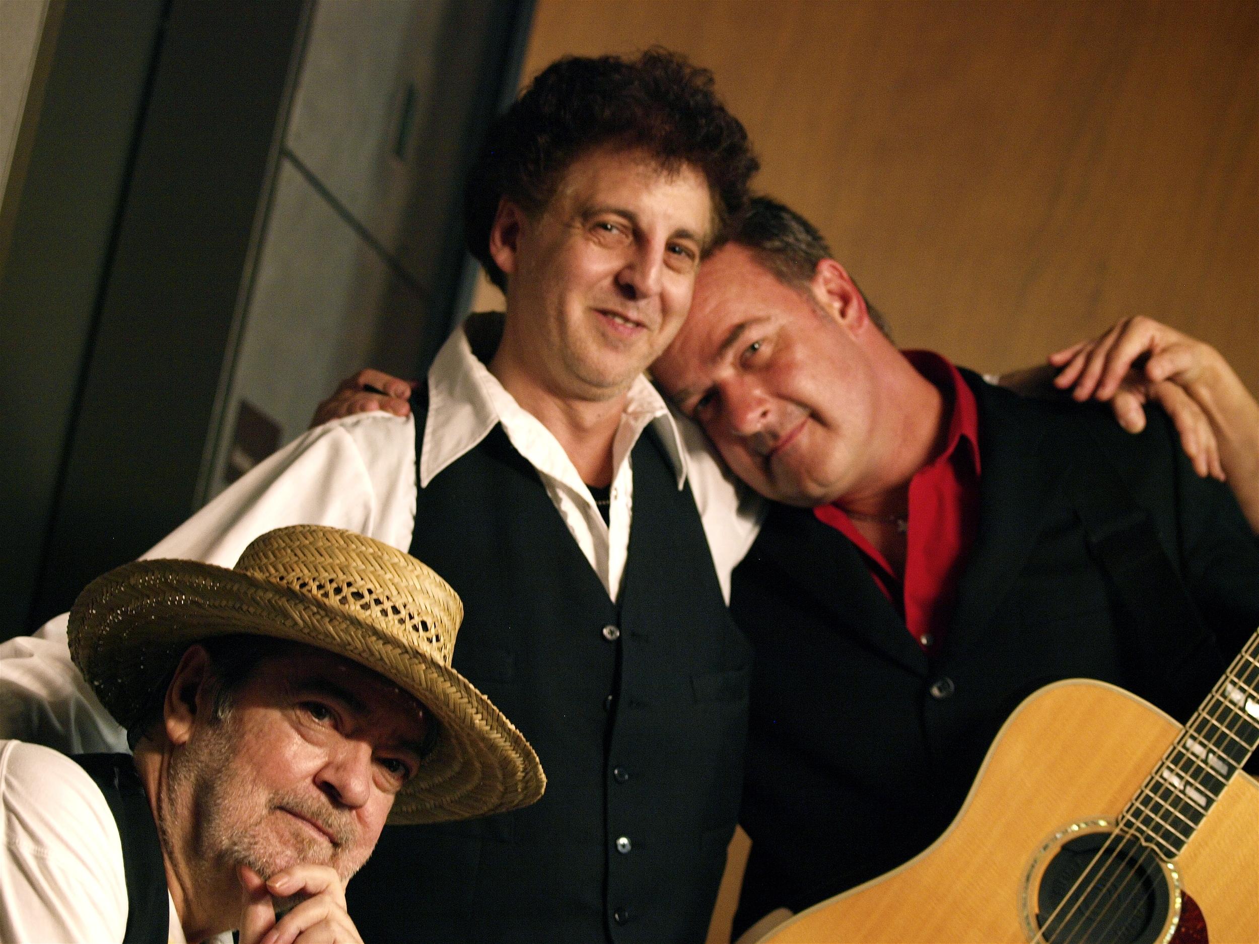 Barry Thomas Goldberg, Magic Marc and James Loney / Town Green Amphitheatre / Maple Grove, Minnesota / August 6th, 2014 / Photo by Neil Schloner
