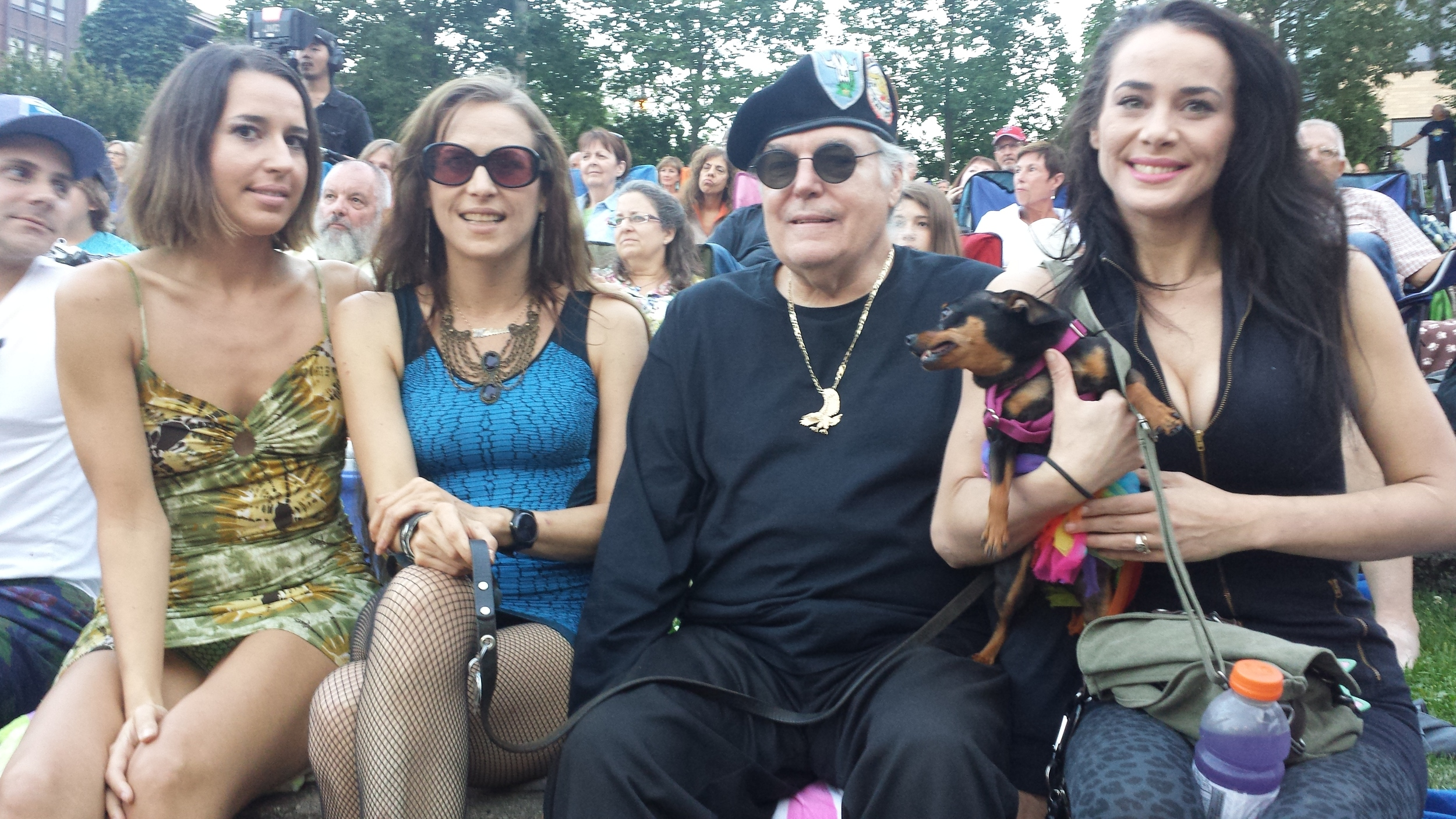 Liza, Melanie, Dennis, Lulu and Michele Ree / Salute to the Music of Bob Dylan / The Veterans' Memorial Wolfe Park Amphitheater / St. Louis Park, Minnesota / August 9th, 2014 / Photo by Julie Ulrich