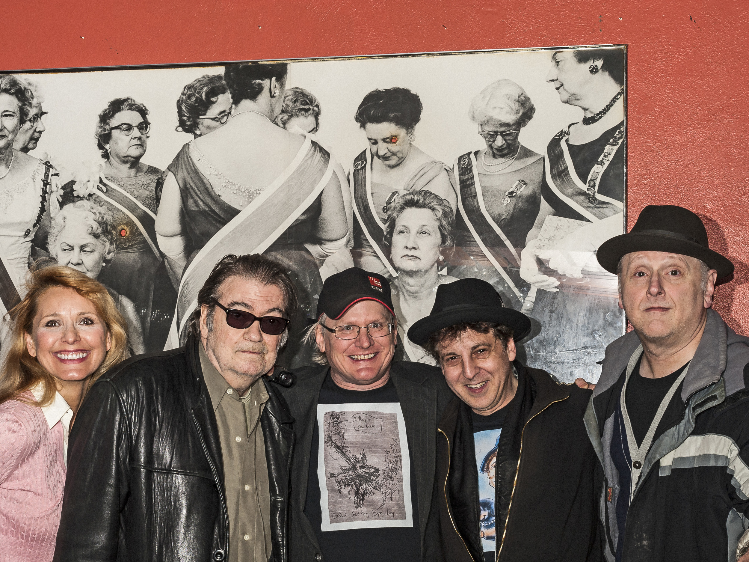Helen Chorolec, Barry Thomas Goldberg, Michael Johnson, Magic Marc and Arne Fogel / Black Forest Inn ( Gun-sho  t Avedon still at home in Minneapolis German restaurant ) / Minneapolis, Minnesota / January 29th, 2015 / Photo by Gamini Kumara