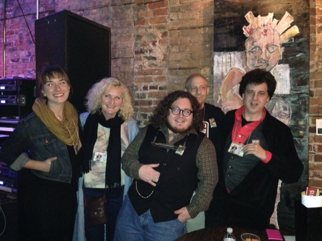 Emma Deaner, Mary Lou Williams, Danny Fox, John Bushey and Magic Marc /  Singer-Songwriter Contest Judges  / The Red Herring Lounge / Duluth, Minnesota / May 22nd, 2015 / Photo by Zane Bail
