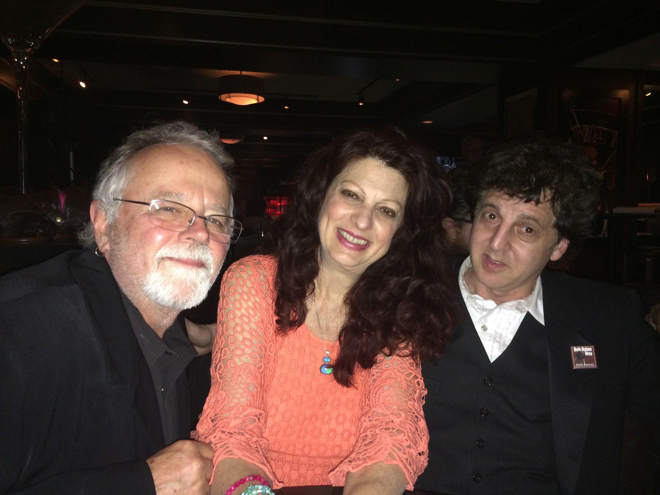 Gene LaFond, Scarlet Rivera and Magic Marc / Black Water Lounge / Duluth, Minnesota / May 24th, 2015 / Photo by Suzanne Johnson