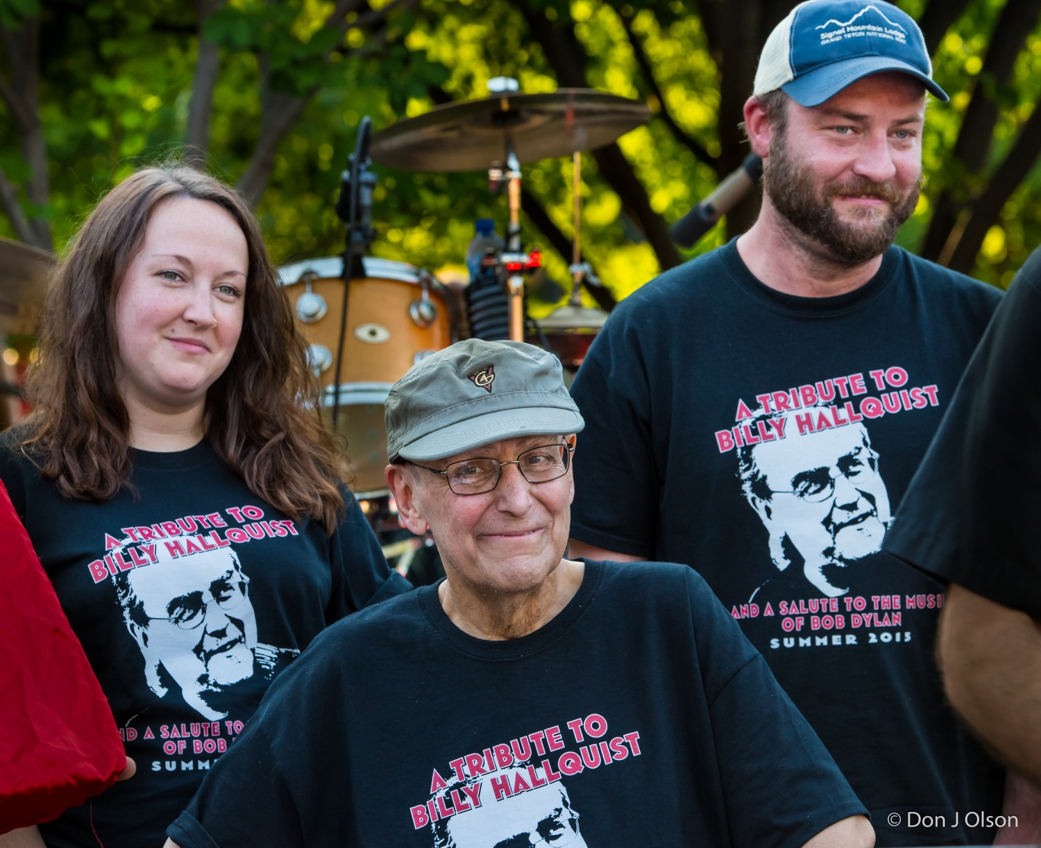 Megan Louise, Billy and BJ Hallquist / The Veterans' Memorial Wolfe Park Amphitheater / St. Louis Park, Minnesota / August 1st, 2015