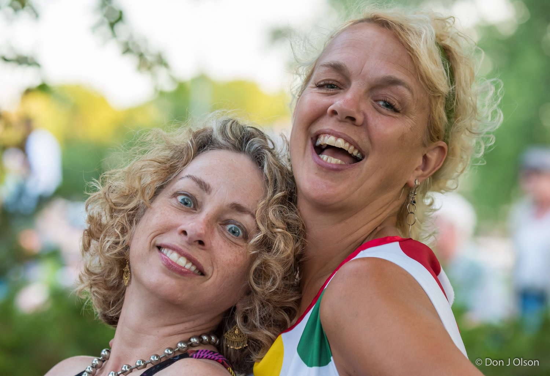 Edie Rae and Barbara Meyer / The Veterans' Memorial Wolfe Park Amphitheater / St. Louis Park, Minnesota / August 1st, 2015