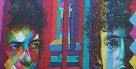 """The Times They Are A-Changin'"" Bob Dylan Mural by Eduardo Kobra"
