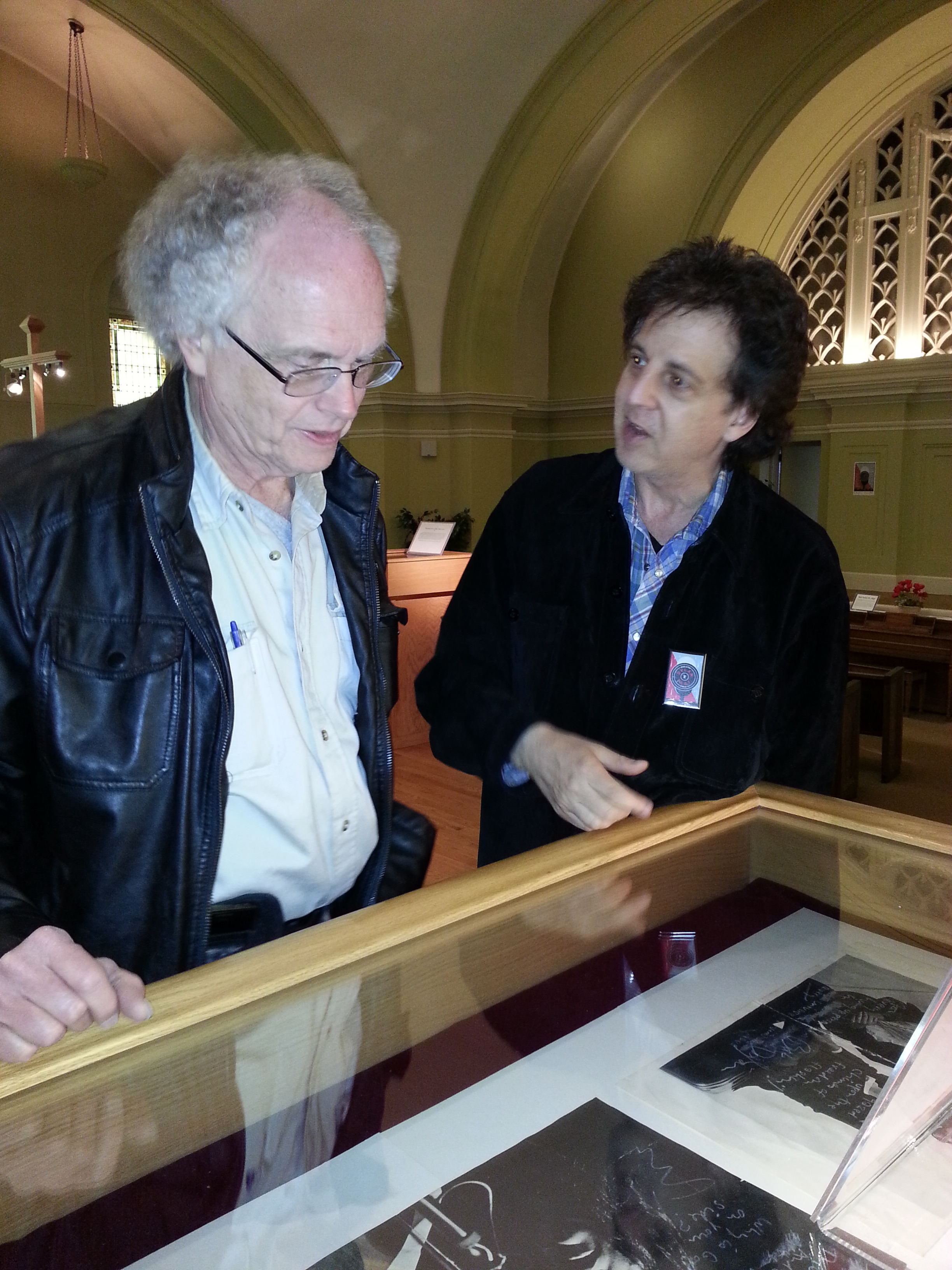 Bob Dylan an Exhibition / Bill Pagel and Magic Marc /  The Karpeles Manuscript Library Museum  / Duluth, Minnesota / May 25th, 2016 / Photo by Kathleen